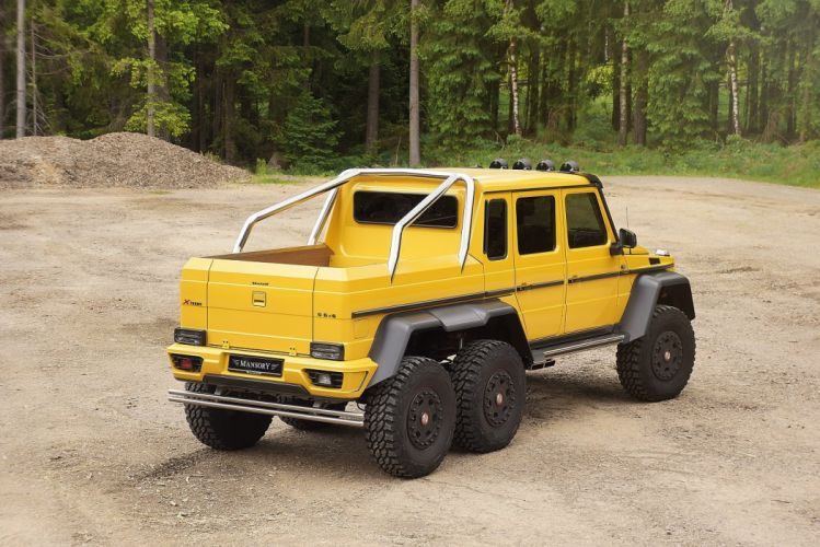 Mansory Mercedes Benz G63 AMG 6x6 all road yellow modified wallpaper