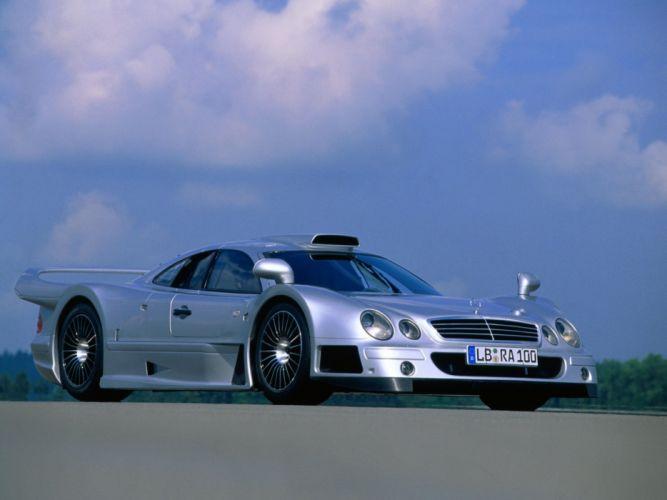 Mercedes Benz CLK GTR AMG Road Version cars supercars 1997 wallpaper