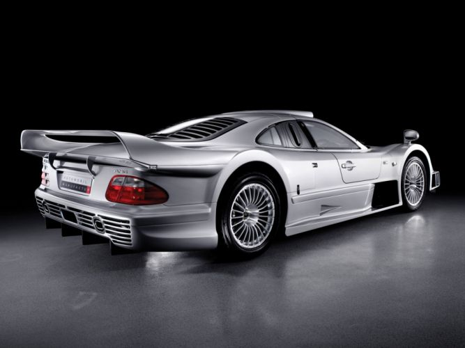 Mercedes Benz CLK GTR AMG Road Version cars supercars 1997 wallpaper