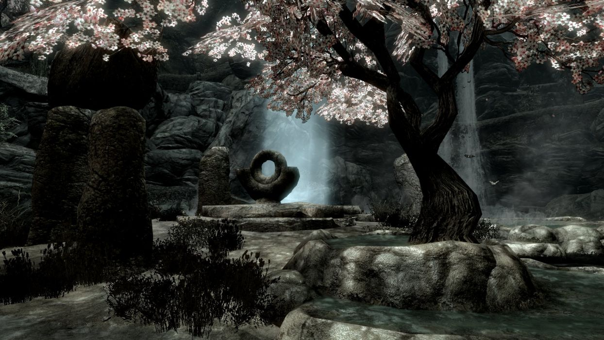 The Elder Scrolls V Skyrim Beautiful Peace Tree Water wallpaper