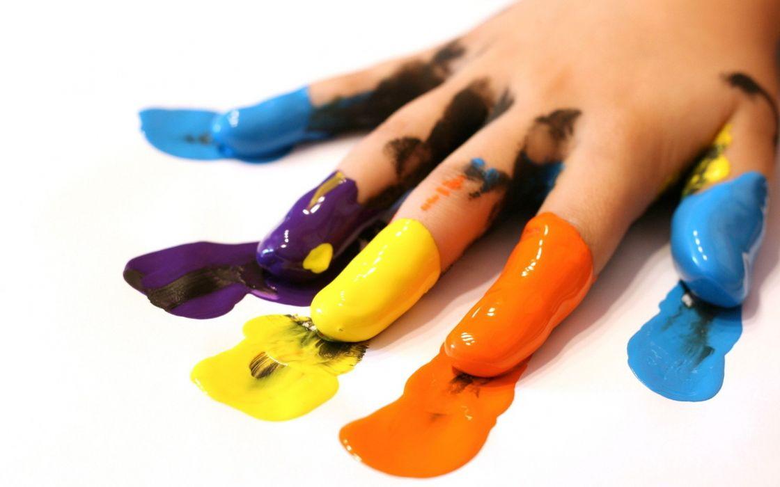 arts hand fingers paint ink wallpaper