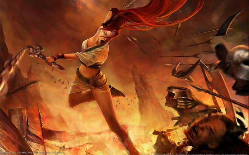 Arts kick heavenly sword nariko battle rage women girl wallpaper