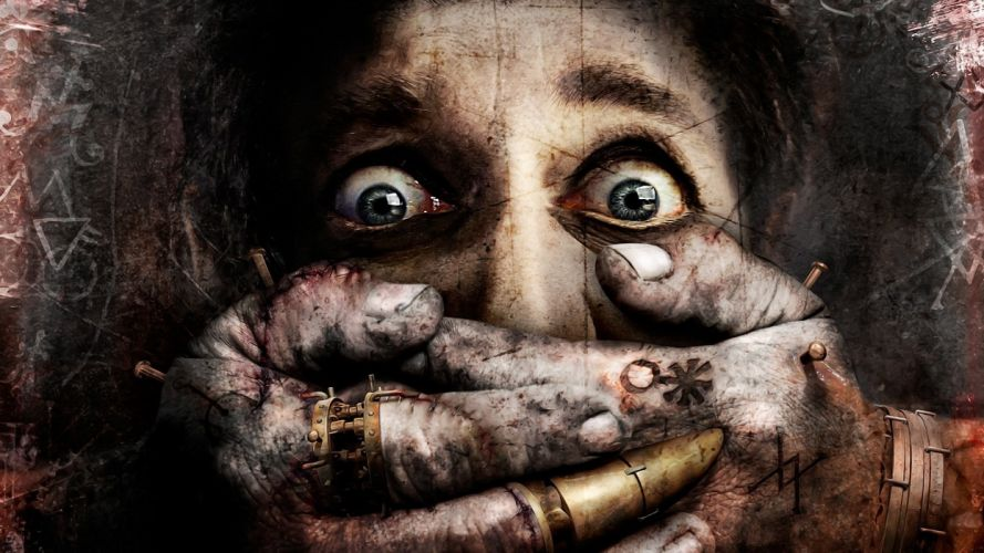 dark face signs eyes fingers joints hands seams wallpaper