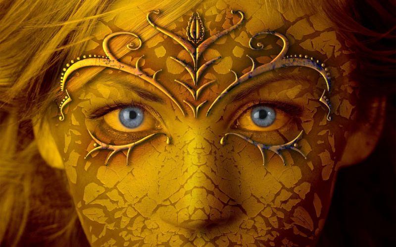 Face arts eyes makeup women girls wallpaper