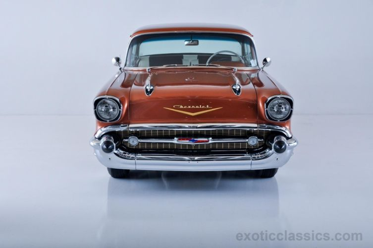 1957 Chevrolet two-door hardtop classic cars wallpaper