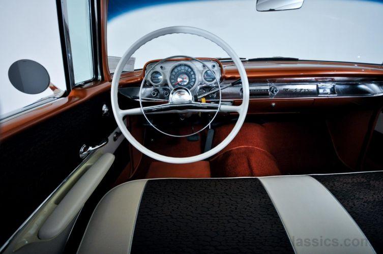 1957 Chevrolet two-door hardtop classic cars wallpaper