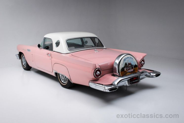 1957 ford Thunderbird convertible cars classic Dusty Rose wallpaper