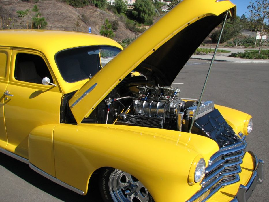 1948 Chevrolet Panel Wagon hot rod rods retro d wallpaper