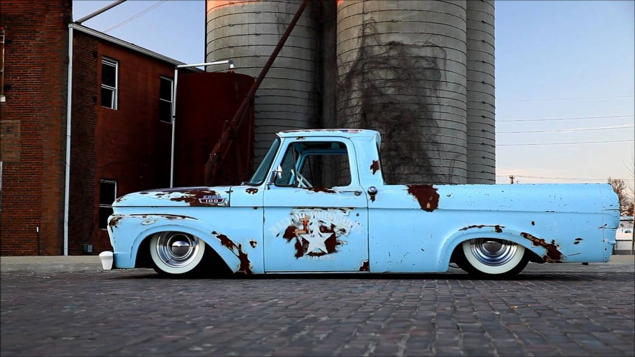 1963 Ford Hot Rod Rat rods pickup classic lowrider d wallpaper