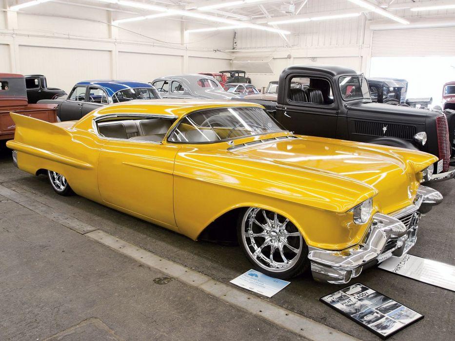 1957 Chevrolet Cadillac Lowrider Custom Hot Rod Rods Retro F Wallpaper