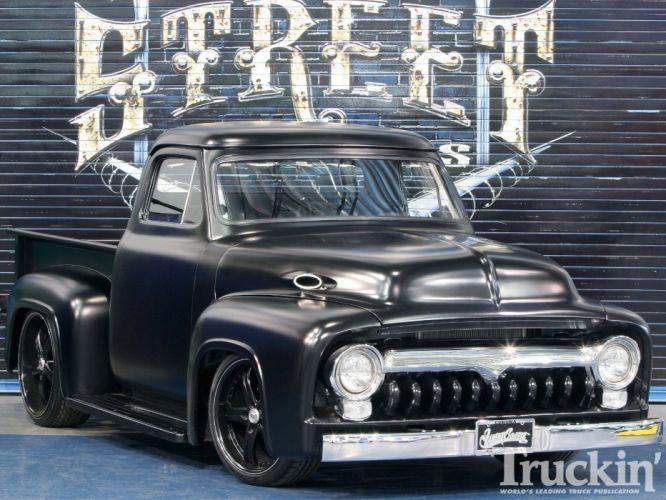 1955 Ford F100 hot rod pickup rods retro h wallpaper