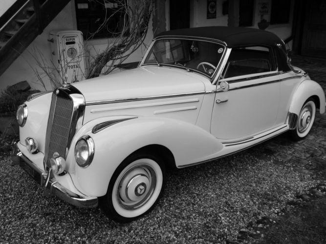 1953 MERCEDES 220 CABRIOLET A luxurt benz luxury retro f wallpaper