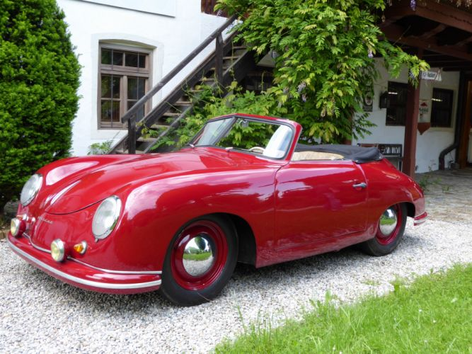 1951 PORSCHE 356 CABRIOLET retro f wallpaper