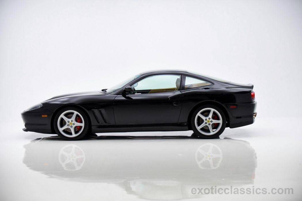 2001 Ferrari 550 Maranello coupe cars black wallpaper