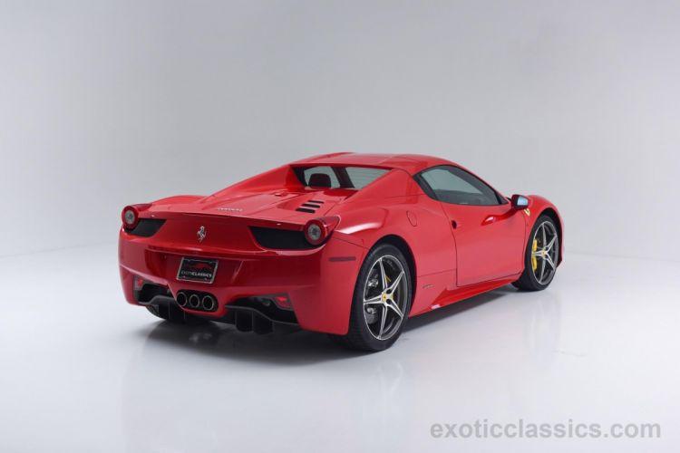 2014 Ferrari 458 Spider Rosso Corsa red cars wallpaper