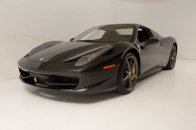 2013 Ferrari 458 Spider nero black cars wallpaper