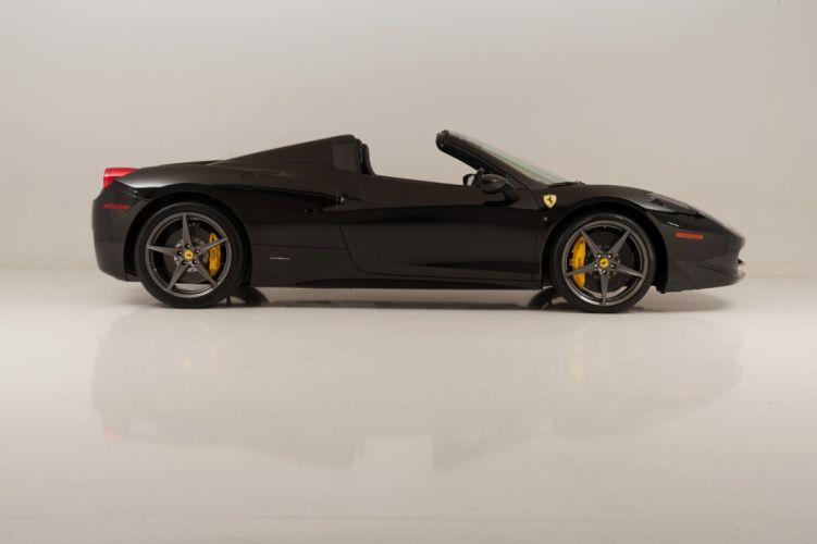 2013 Ferrari 458 Spider nero black cars wallpaper