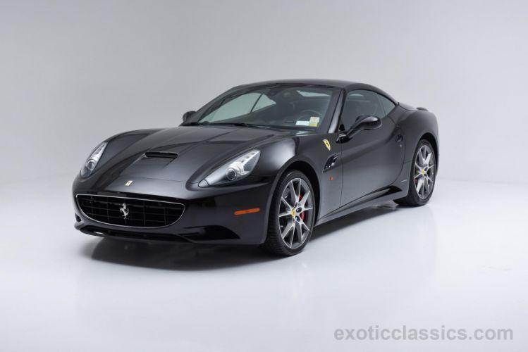 2012 Ferrari california convertible nero black cars wallpaper