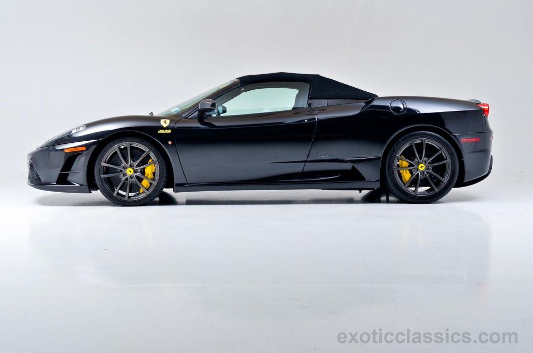 2009 Ferrari F430 16M Scuderia cars convertible black wallpaper