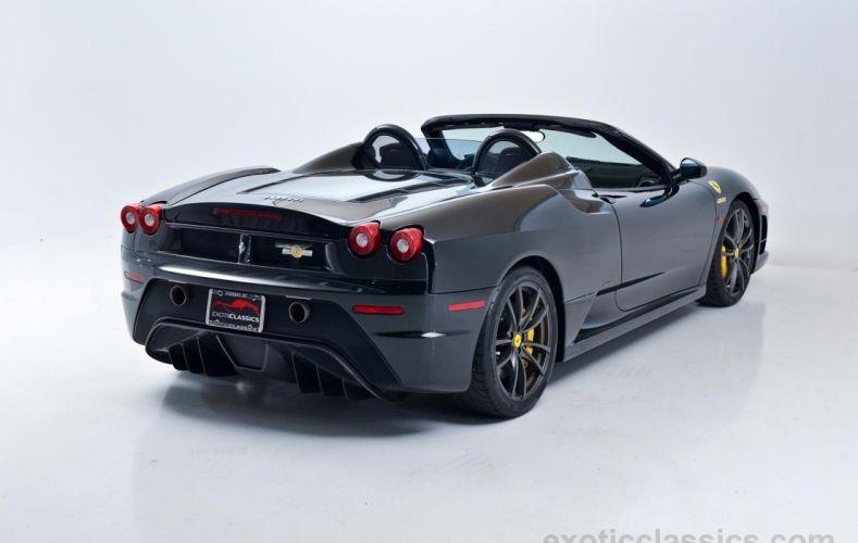 2009 Ferrari F430 16M Scuderia cars convertible black wallpaper