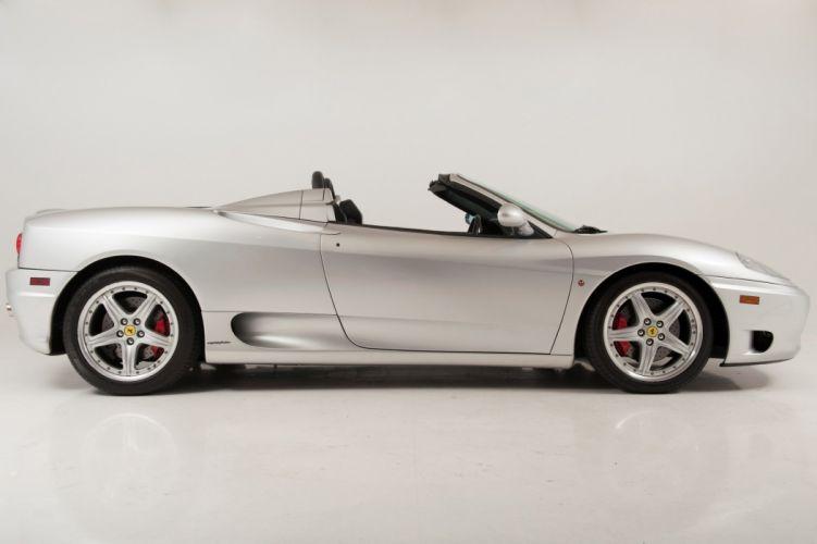 2003 Ferrari Modena 360 Spider cars silver wallpaper