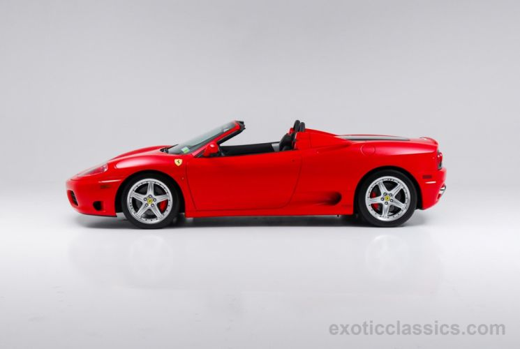 2003 Ferrari Modena 360 Spider cars rosso corsa red wallpaper