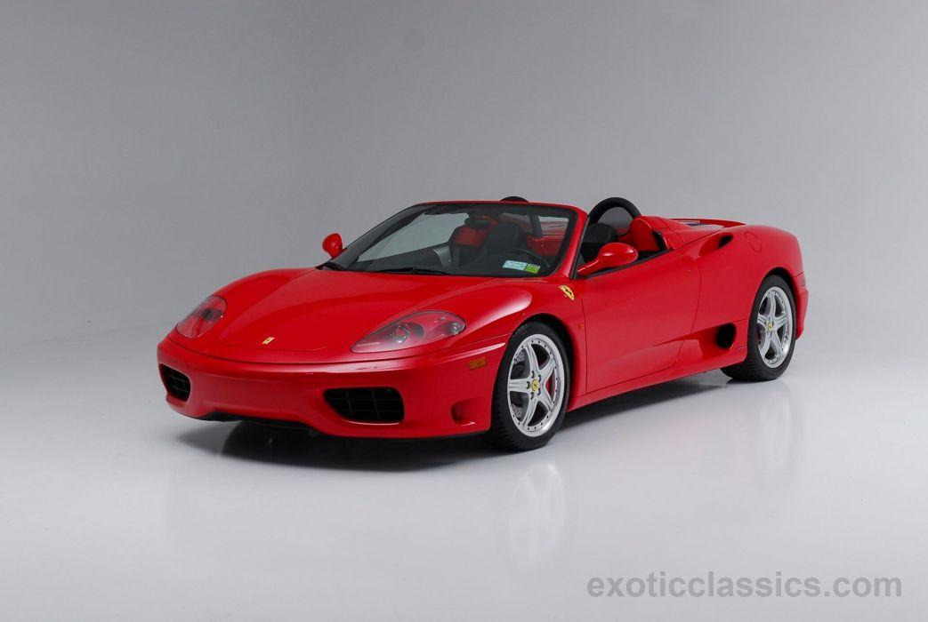 2003 Ferrari Modena 360 Spider cars rosso corsa red wallpaper