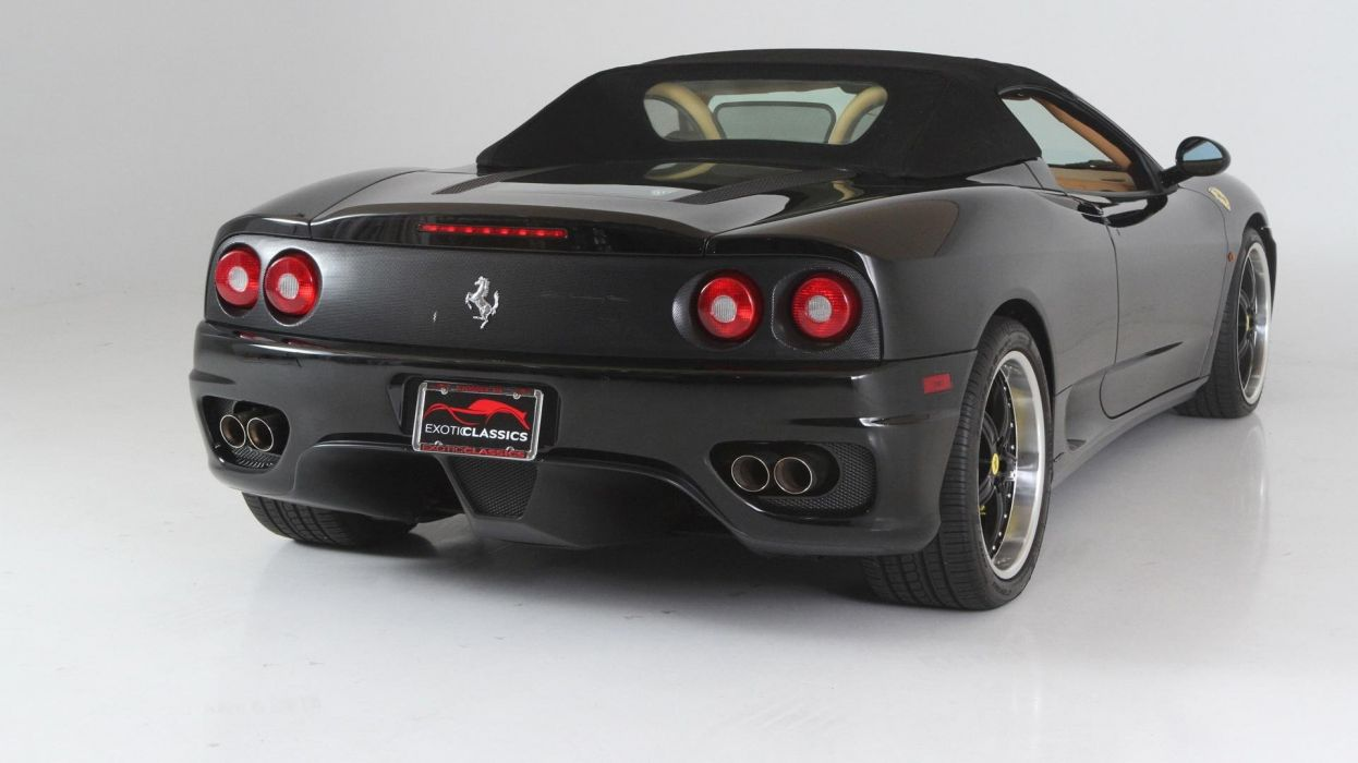 2003 Ferrari Modena 360 Spider cars black wallpaper