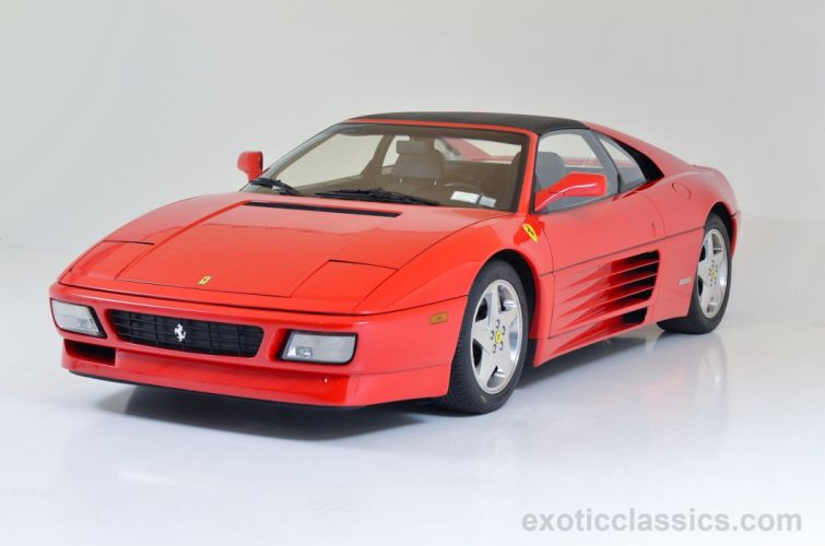 1990 FERRARI 348 TS cars rossa corsa red wallpaper