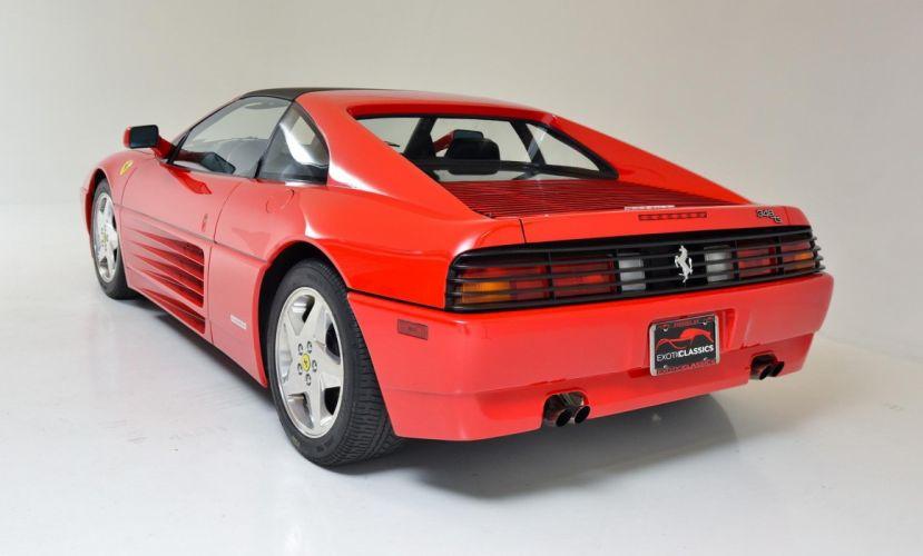 1990 FERRARI 348 TS cars rossa corsa red wallpaper