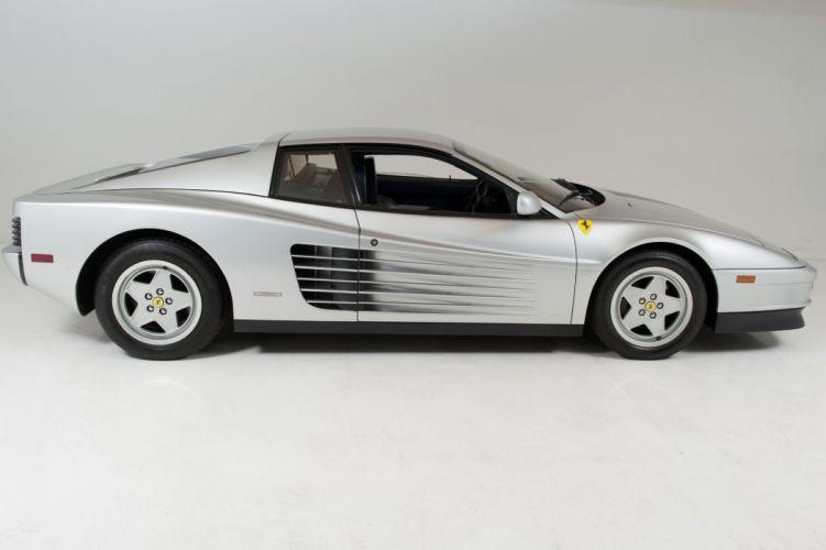 1988 Ferrari Testarossa Metallic Silver coupe cars wallpaper