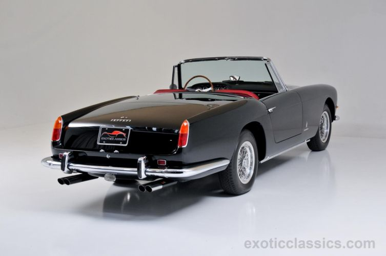 1962 Ferrari 250 Pininfarina Series II Cabriolet black convertible classic cars wallpaper