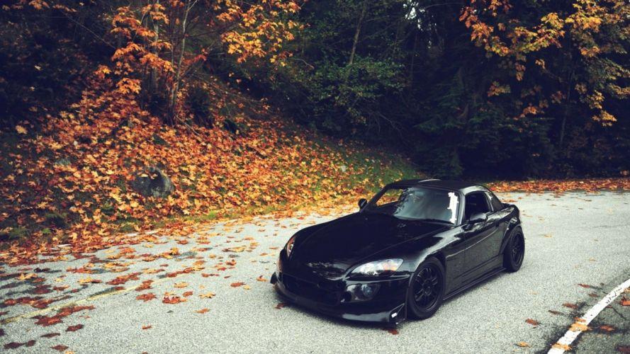 black honda car beauty wallpaper