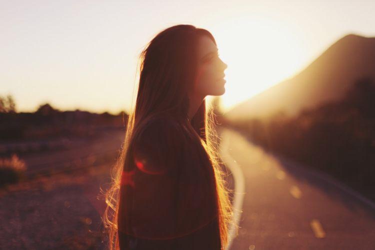 girl sunshine long hair mood Simply Summer wallpaper