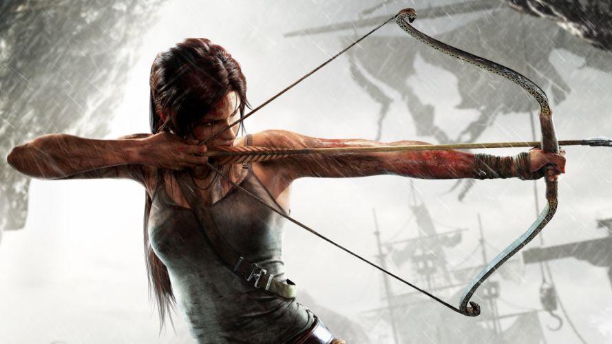 RISE TOMB RAIDER lara croft action adventure mystery 1rtr archer warrior fantasy d wallpaper