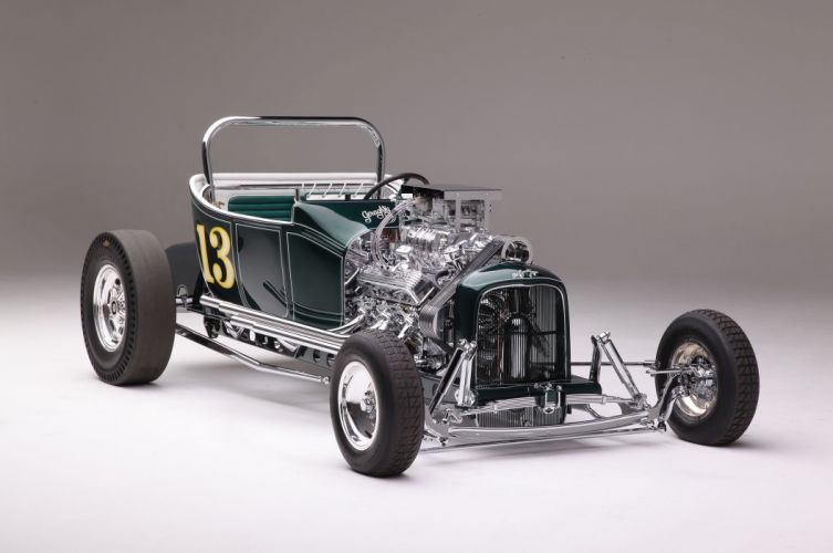 1923 Ford Roadster Modified Drag Dragster Race Old School Vintage USA -01 wallpaper