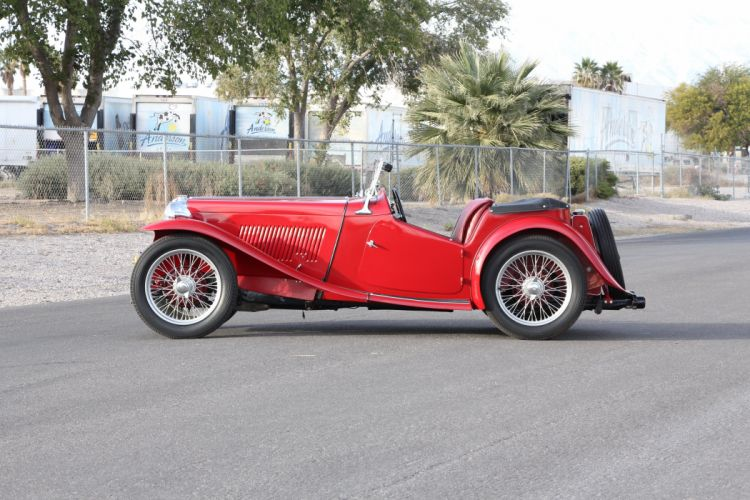 1948 MG TC Sport Roadster Red Classic Old Retro Vintage Original UK -02 wallpaper