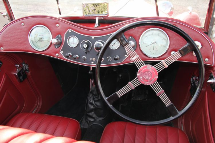 1948 MG TC Sport Roadster Red Classic Old Retro Vintage Original UK -09 wallpaper