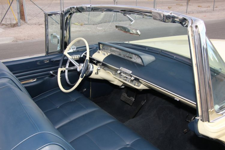 1957 Lincoln Premiere De Luxe Convertible Classic Old Retro Vintage Original USA -04 wallpaper