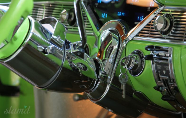 1956 Chevrolet Bel Air Hardtop lowrider custom retro d wallpaper