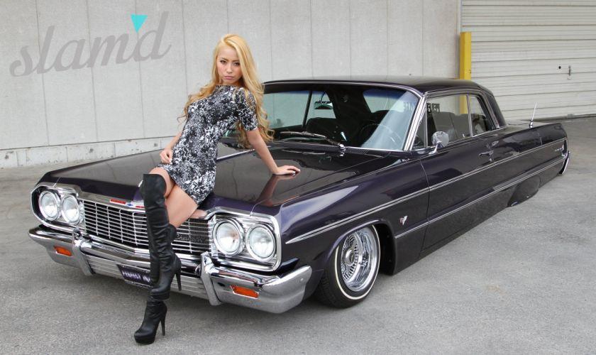 1964 Chevrolet Impala lowrider custom classic f wallpaper