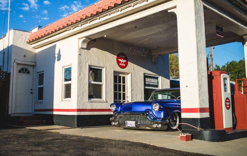 1957 Cadillac Coupe Deville lowrider custom retro s wallpaper