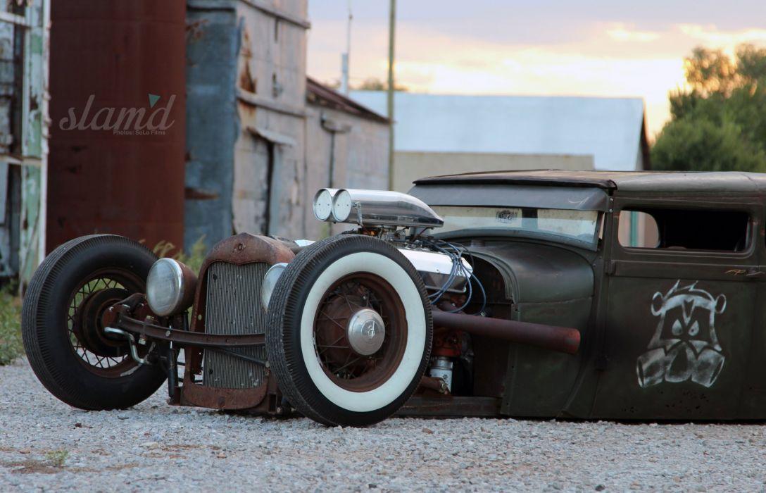 1928 Ford Tudor Sedan hot rod rods custom rat lowrider retro g wallpaper