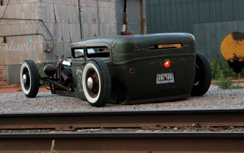 1928 Ford Tudor Sedan hot rod rods custom rat lowrider retro g wallpaper
