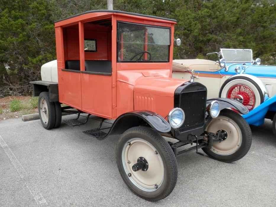 1923 Ford Model TT Crew Cab Truck Tanker Classic Old Vintage Retro Original USA 1600x1200-01 wallpaper