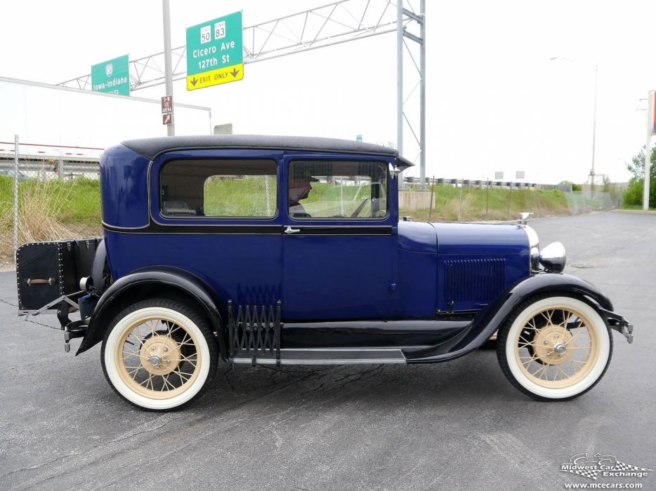 1928 Ford Model-A Tudor Sedan Two Door Classic Old Vintage Original USA -01 wallpaper
