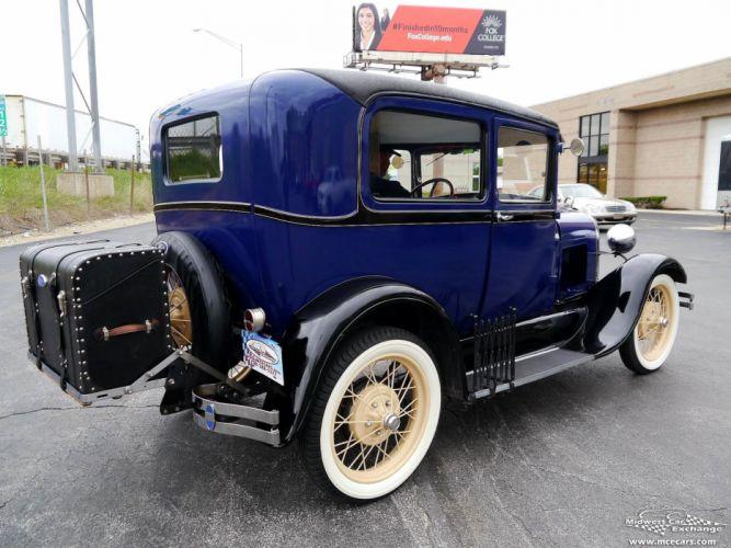 1928 Ford Model-A Tudor Sedan Two Door Classic Old Vintage Original USA -02 wallpaper