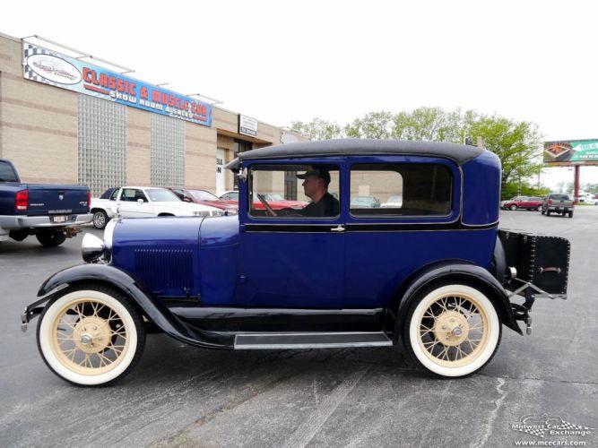 1928 Ford Model-A Tudor Sedan Two Door Classic Old Vintage Original USA -05 wallpaper