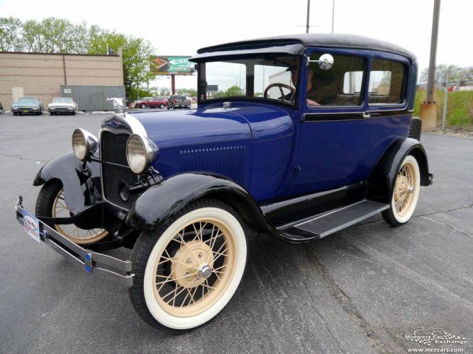 1928 Ford Model-A Tudor Sedan Two Door Classic Old Vintage Original USA -06 wallpaper
