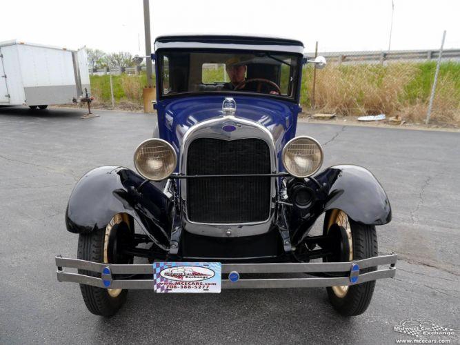 1928 Ford Model-A Tudor Sedan Two Door Classic Old Vintage Original USA -07 wallpaper
